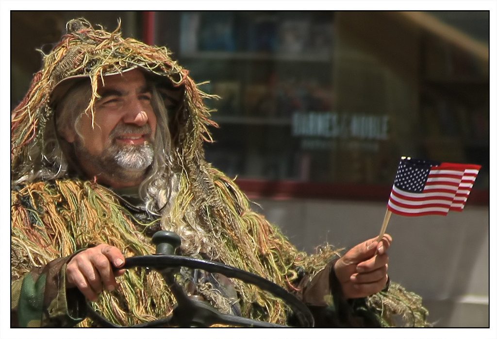 Veteran Service Member in the Chicago Memorial Day Parade